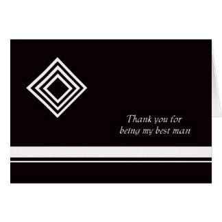El mejor hombre le agradece cardar tarjeta de felicitación