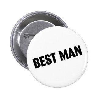 El mejor hombre (negro intrépido) pin
