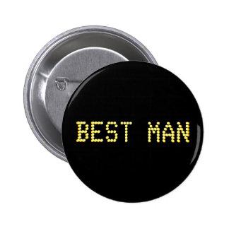 El mejor hombre. Negro y color oro.  El casarse de Pin Redondo 5 Cm