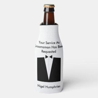 El mejor hombre o padrino de boda invita enfriador de botellas