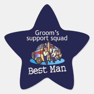 El mejor hombre pegatina en forma de estrella