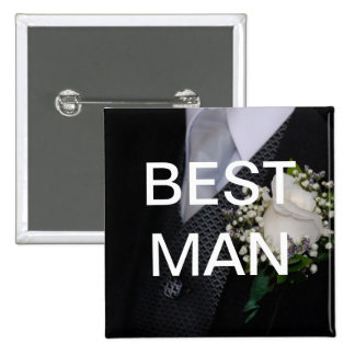 El mejor hombre pin cuadrado