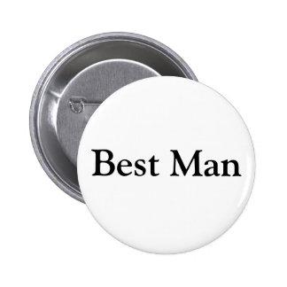 El mejor hombre pin redondo de 2 pulgadas