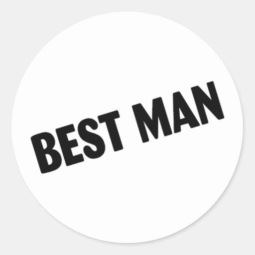 El mejor hombre que casa negro pegatinas redondas