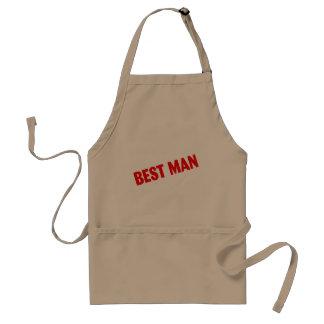 El mejor hombre que casa rojo delantal