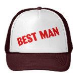 El mejor hombre que casa rojo gorro de camionero