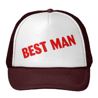 El mejor hombre que casa rojo gorros bordados