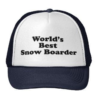 El mejor huésped de la nieve del mundo gorras de camionero