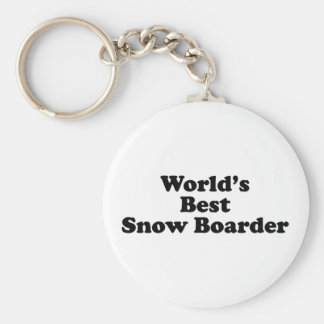El mejor huésped de la nieve del mundo llavero personalizado