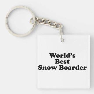 El mejor huésped de la nieve del mundo llavero