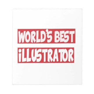 El mejor ilustrador del mundo blocs de papel
