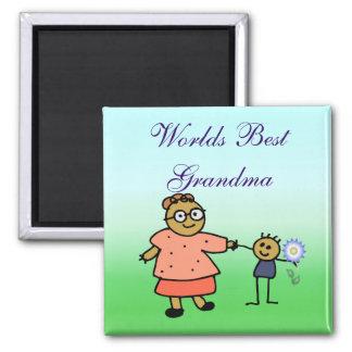 El mejor imán del cuadrado de la abuela de los mun