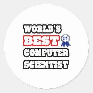 El mejor informático del mundo pegatinas redondas