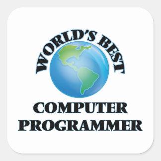 El mejor informático del mundo pegatina cuadrada