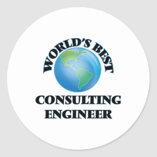 El mejor ingeniero asesor del mundo etiqueta redonda