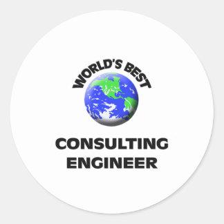 El mejor ingeniero asesor del mundo pegatinas redondas