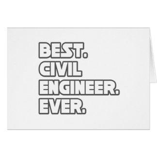 El mejor ingeniero civil nunca tarjeta de felicitación