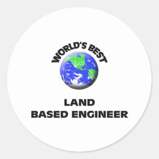 El mejor ingeniero con base en tierra del mundo etiqueta redonda
