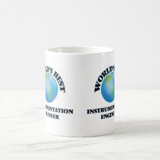 El mejor ingeniero de la instrumentación del mundo taza básica blanca
