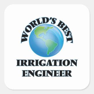 El mejor ingeniero de la irrigación del mundo pegatina cuadrada