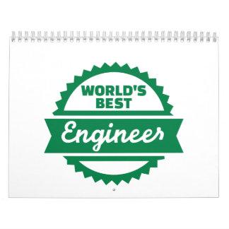 El mejor ingeniero del mundo calendario de pared