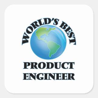 El mejor ingeniero del producto del mundo pegatinas cuadradas