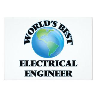 """El mejor ingeniero eléctrico del mundo invitación 5"""" x 7"""""""