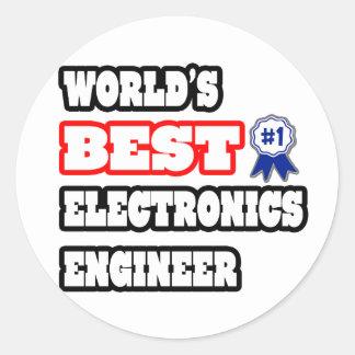 El mejor ingeniero electrónico del mundo pegatina