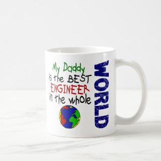 El mejor ingeniero en el mundo 2 (papá) taza básica blanca