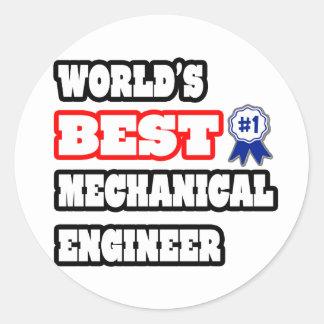 El mejor ingeniero industrial del mundo pegatina redonda