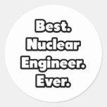 El mejor. Ingeniero nuclear. Nunca Pegatina Redonda