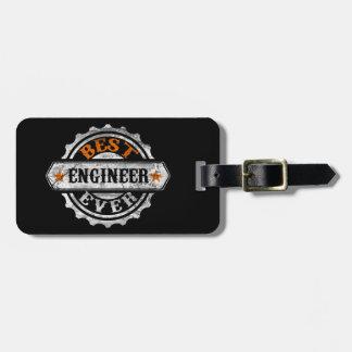El mejor ingeniero nunca etiqueta de maleta