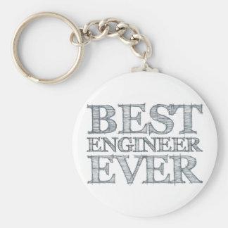 El mejor ingeniero nunca llavero redondo tipo pin