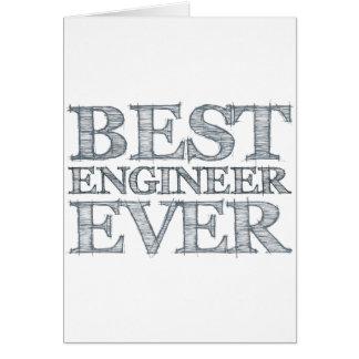 El mejor ingeniero nunca tarjeta de felicitación
