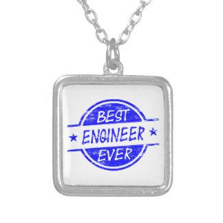 El mejor ingeniero siempre azul colgante cuadrado