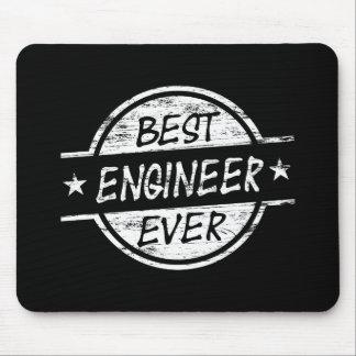 El mejor ingeniero siempre blanco tapetes de ratones