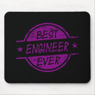El mejor ingeniero siempre púrpura alfombrillas de raton