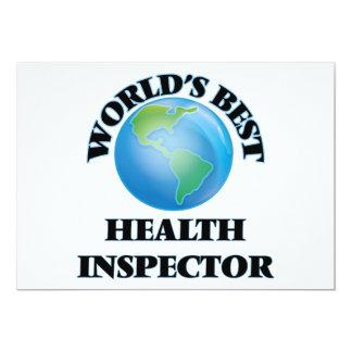 """El mejor inspector de la salud del mundo invitación 5"""" x 7"""""""