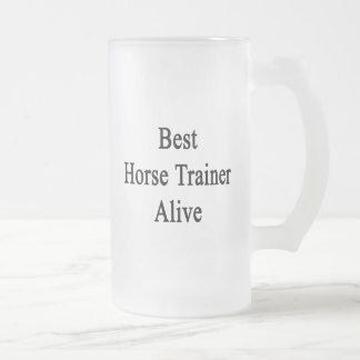 El mejor instructor de caballo vivo taza
