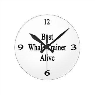 El mejor instructor de la ballena vivo reloj de pared