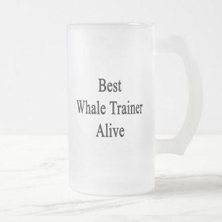 El mejor instructor de la ballena vivo taza