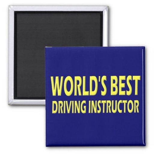 El mejor instructor de la conducción del mundo imán cuadrado