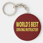 El mejor instructor de la conducción del mundo llavero personalizado