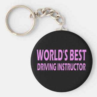El mejor instructor de la conducción del mundo llavero redondo tipo pin