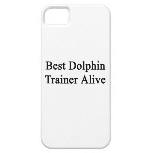 El mejor instructor del delfín vivo iPhone 5 carcasa