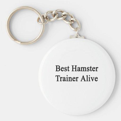 El mejor instructor del hámster vivo llavero personalizado