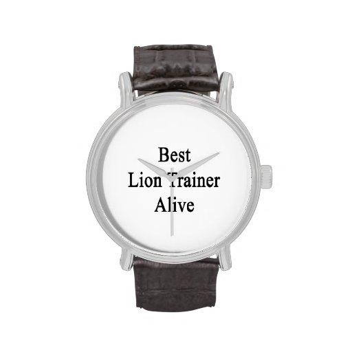 El mejor instructor del león vivo relojes de pulsera