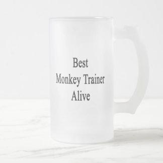 El mejor instructor del mono vivo tazas de café