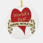 El mejor instructor del oficio de enfermera del mu adorno de navidad