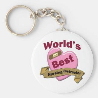 El mejor instructor del oficio de enfermera del mu llavero redondo tipo pin